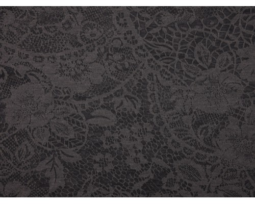 Single Jersey Devore' Print Fabric - Charcoal