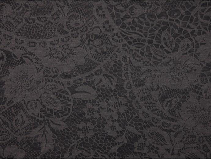 Single Jersey Devore' Print Fabric - Charcoal