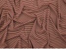 Single Jersey Stripe Fabric - Claret / White