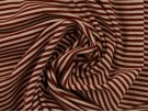 Single Jersey Stripe Fabric - Claret / White