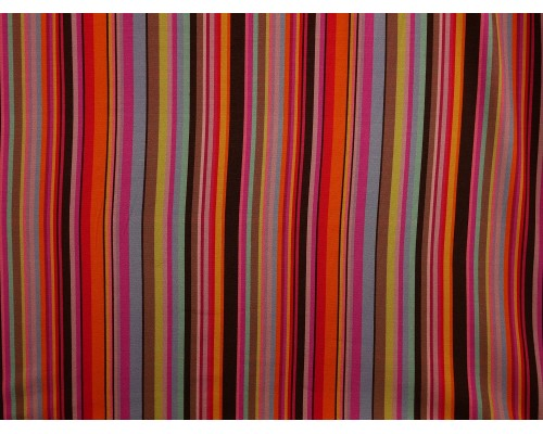 Single Jersey Printed Fabric - Multi Stripe