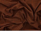 Double Jersey Ponti Fabric - Brown Check