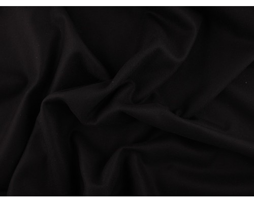 Woven Wool Coating Fabric - Black