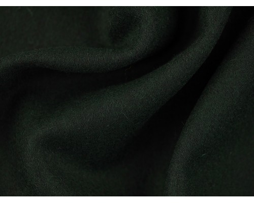 Woven Wool Coating Fabric - Bottle Green