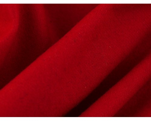 Woven Wool Coating Fabric - Cardinal Red