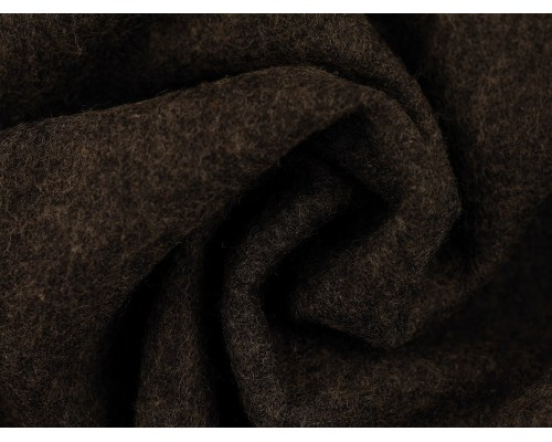 Woven Wool Coating Fabric - Charcoal