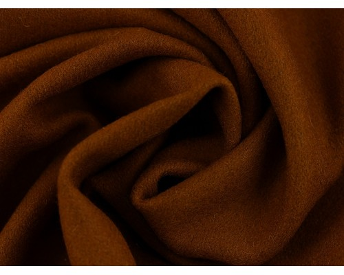 Woven Wool Coating Fabric - Dark Camel