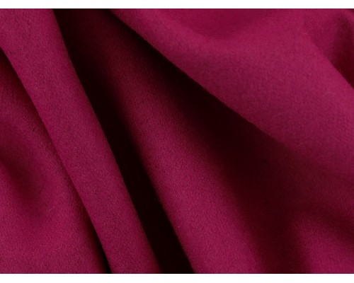 Woven Wool Coating Fabric - Fuchsia