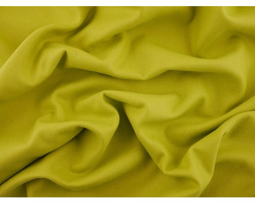 Woven Wool Coating Fabric - Lime