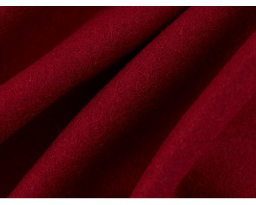 Woven Wool Coating Fabric - Merlot