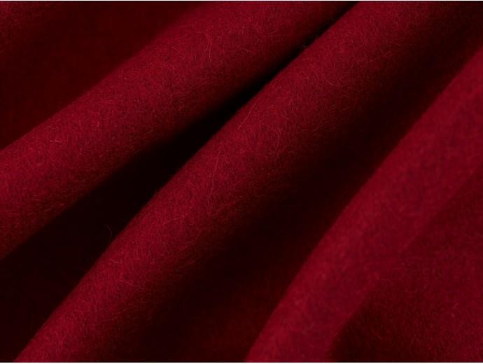 Woven Wool Coating Fabric - Merlot