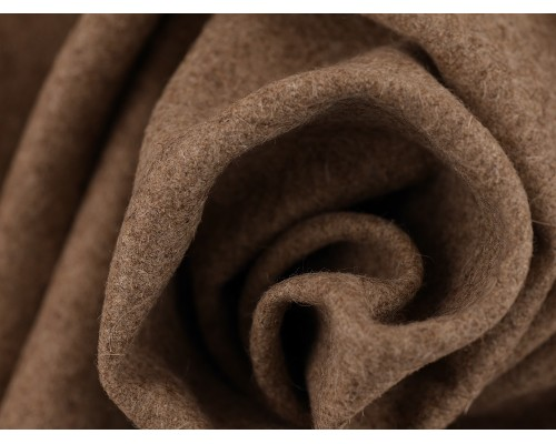Woven Wool Coating Fabric - Oatmeal