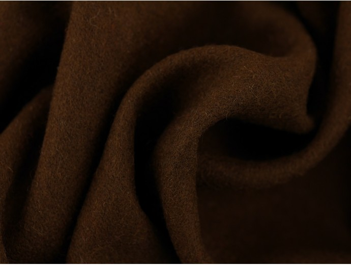 Woven Wool Coating Fabric - Dark Olive