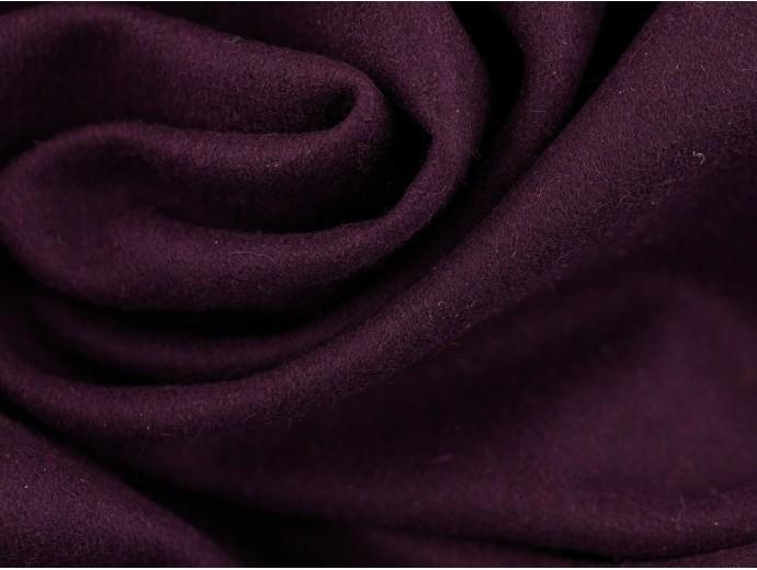 Woven Wool Coating Fabric - Aubergine
