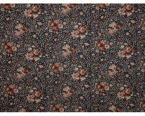 Printed Cotton Lawn Fabric  - Small Bouquet on Green
