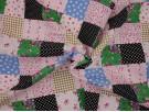 Printed Cotton Poplin Fabric - Patchwork