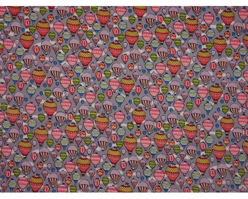 Printed Cotton Poplin Fabric - Around The World In 80 Days