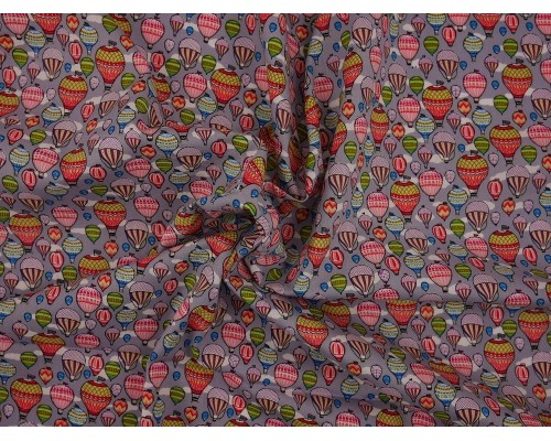 Printed Cotton Poplin Fabric - Around The World In 80 Days