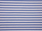Cotton Stripe Jersey Fabric - Cornflour / White