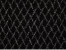 Nottingham Lace Fabric - Cream on Black