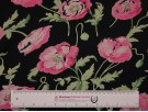 Printed Viscose Jersey Fabric - Pink Poppies