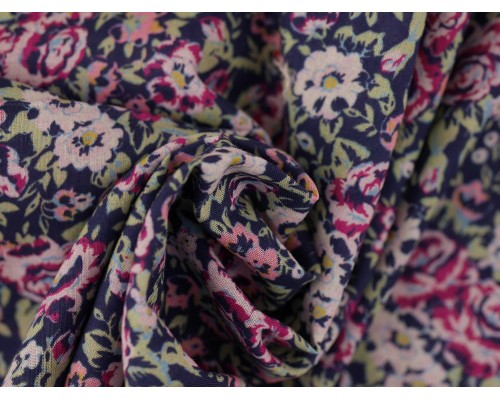 Printed Cotton Lawn Fabric - Multi