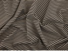 Double Jersey Ottoman Rib Stripe Fabric - Black / White