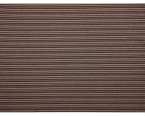 Double Jersey Rib Stripe Fabric - Pink / Black / Grey
