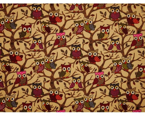 Canvas Fabric - Owls