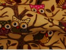 Canvas Fabric - Owls