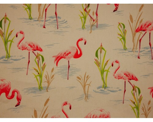 Canvas Fabric - Flamingos