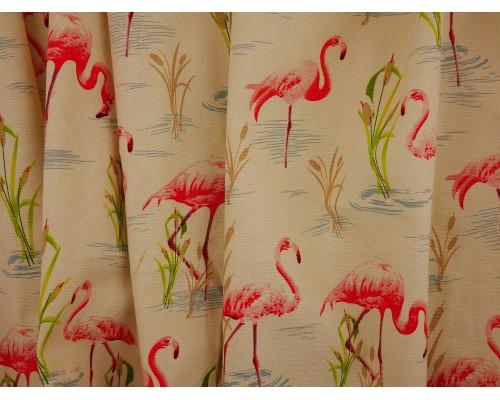 Canvas Fabric - Flamingos