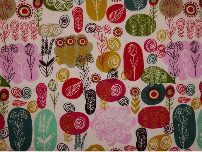 Canvas Fabric - Abstract Garden