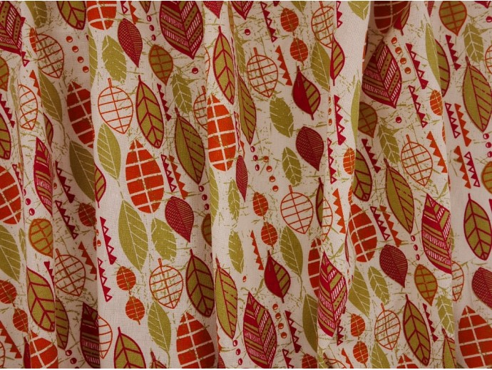 Canvas Fabric - Autumn Leaves