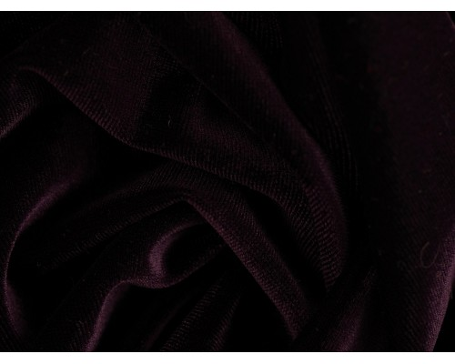Stretch Velour Fabric - Parachute Purple