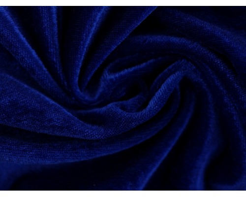 Stretch Velour Fabric - Royal