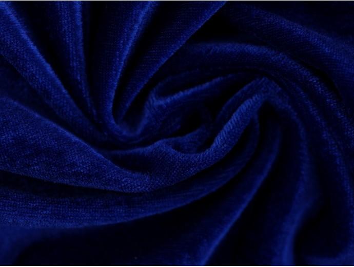 Stretch Velour Fabric - Royal