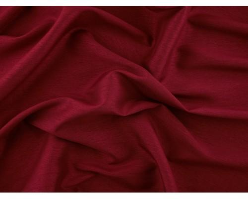 Woven Polyester Slub Fabric - Claret