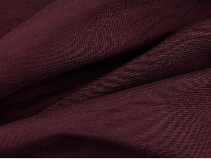 Woven Polyester Slub Fabric - Grape