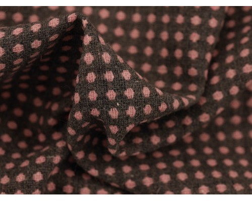 Woven Jacquard Fabric - Pink and Grey