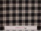 Woven Jacquard Fabric - Black and White Tartan