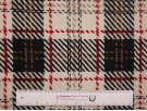 Woven Jacquard Fabric - White with Red Tartan