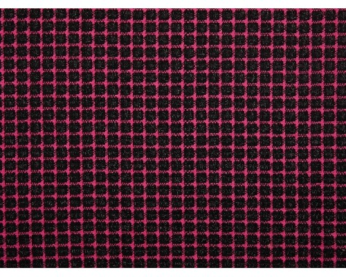 Woven Jacquard Fabric - Black and Pink Sparkle Check