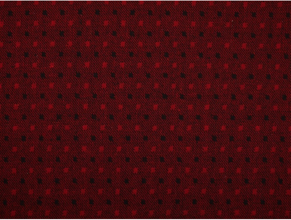 Woven jacquard fabric red and black spot for Jacquard fabric