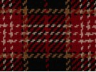 Woven Jacquard Fabric - Black and Red Tartan