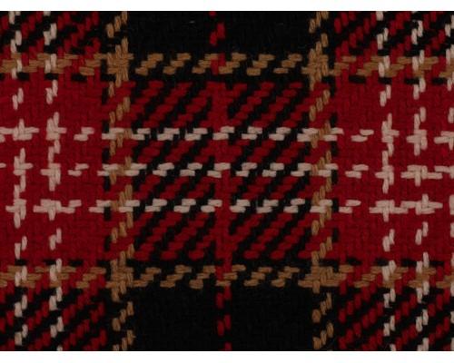 Woven Jacquard Fabric - Black and Red Tartan