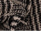 Woven Jacquard Fabric - Black and White Multi Textured