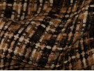 Woven Jacquard Fabric - Camel and Sand
