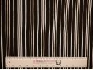 Single Jersey Stripe Fabric - Black / White