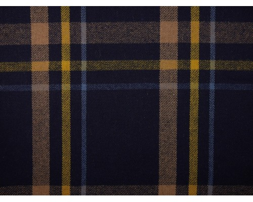 Brushed Woven Jacquard Fabric - Large Blue Check